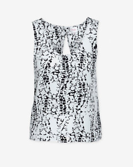 Parker Asher Printed Open Back Sleeveless Top
