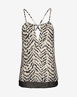 Parker Gulley Printed Crossed Strap Cami