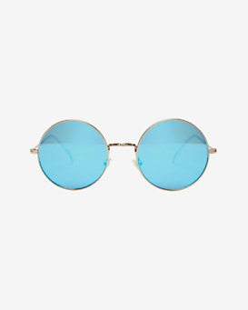 Illesteva Porto Cervo Mirrored Lense Sunglasses: Gold