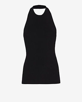 Autumn Cashmere EXCLUSIVE Knit Halter: Black