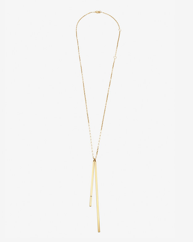 Jennifer Zeuner Peyton Double Bar Necklace