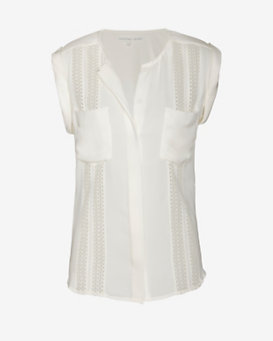 Veronica Beard Lace Inset Blouse