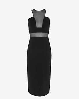 Cushnie Et Ochs Power Stretch Organza Inset Dress