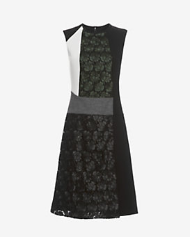 Derek Lam Lace Collage Dress