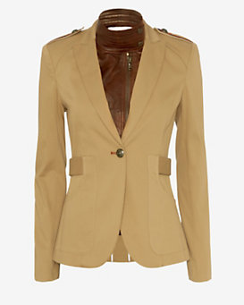 Veronica Beard Leather Dickie Scout Jacket