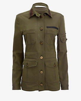 Veronica Beard Camp Cotton Twill Jacket