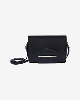 Nina Ricci Mini Bar Crossbody: Black