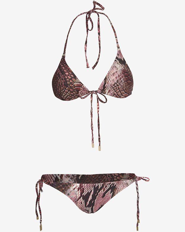 online-only      melissa-odabash-boa-print-self-tie-triangle-bikini by melissa-odabash