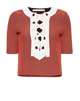 Veronica Beard Sanibel Lace-Up Knit