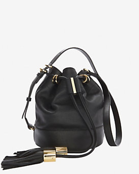 See by Chloe Vicki Tassel Bucket Bag: Black