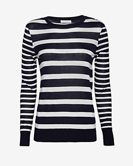 Equipment Shane Nautical Stripe Sweater