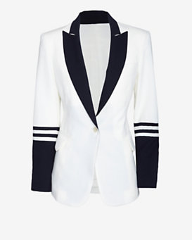 Equipment Anais Nautical Stripe Blazer