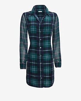 Equipment EXCLUSIVE Brett Plaid Pattern Dress
