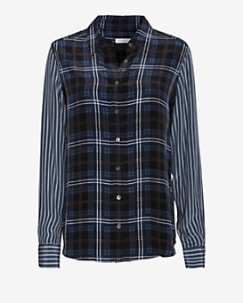 Equipment EXCLUSIVE Brett Plaid Pattern Blouse