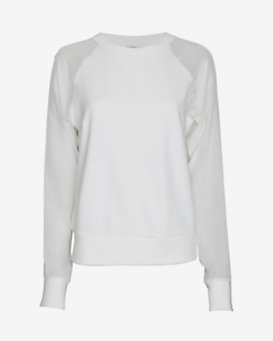 Equipment EXCLUSIVE Gemma Chiffon Sleeve Sweatshirt