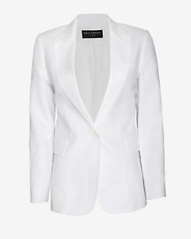 Equipment Anais Linen Blazer: White