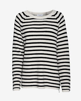 Equipment Lucien Zipper Detail Striped Sweater