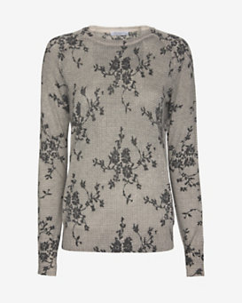 Equipment Sloane Floral Pattern Sweater