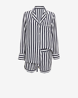 Equipment Lillian Silk Stripe Pajama Set