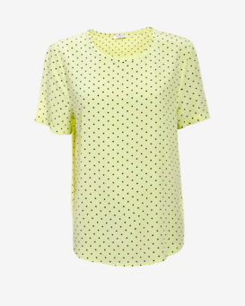 Equipment Riley Polka Dot Silk Tee