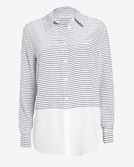 Equipment Reese Neat Stripe Blouse