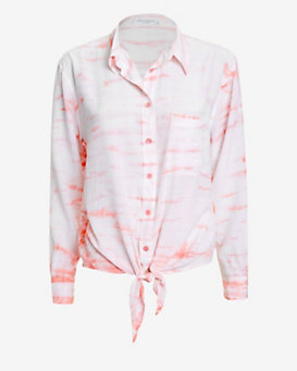 Equipment Daddy Tie Hem Dye Blouse