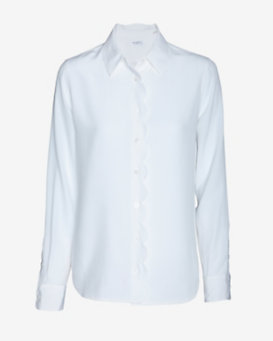 Equipment Brett Scallop Button Placket Blouse