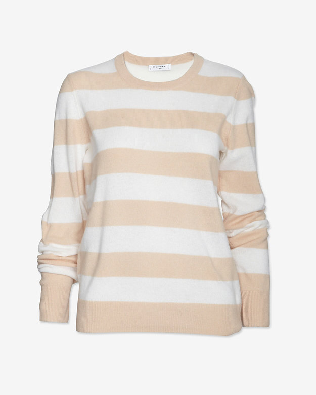 Equipment Striped Cashmere Crewneck Sweater