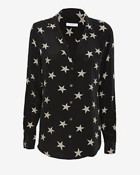 Equipment Adalyn Star Print Blouse