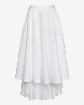 Robert Rodriguez Hi/Lo Skirt: White