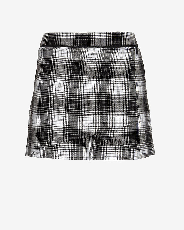 Robert Rodriguez Zipper Detail Plaid Skort