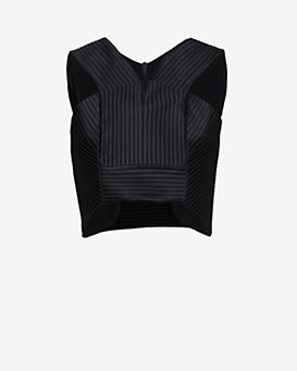 Robert Rodriguez Quorra Striped Crop Top