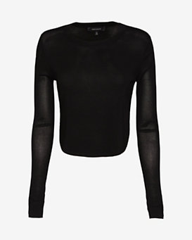 Robert Rodriguez Rounded Hem Crop Top