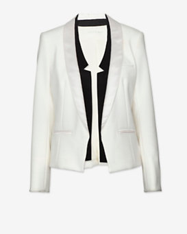 Veronica Beard Contrast Shawl Collar Blazer