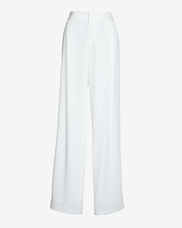 10 Crosby Derek Lam Fluid Trouser: White