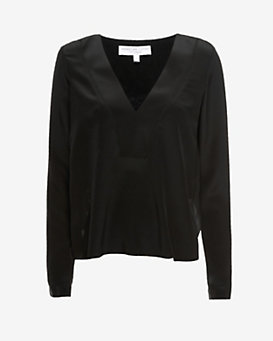 Derek Lam 10 Crosby EXCLUSIVE Lace Back V-Neck Blouse