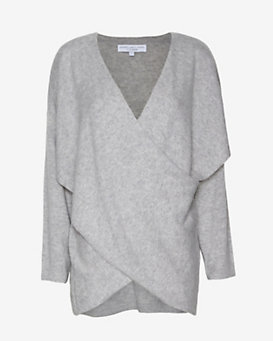 Derek Lam 10 Crosby EXCLUSIVE Cross Front Cashmere Sweater: Grey