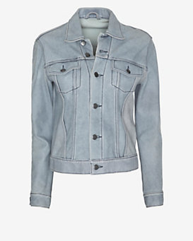 Derek Lam 10 Crosby Denim Leather Jacket