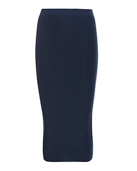 Cushnie Et Ochs Ribbed Pencil Skirt: Navy