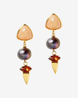 Lizzie Fortunato Oyster Pearl Earrings