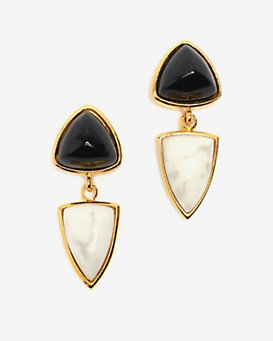 Lizzie Fortunato Graphic Shield Earrings