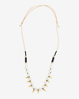 Lizzie Fortunato EXCLUSIVE Sea Spike Single Pearl Necklace