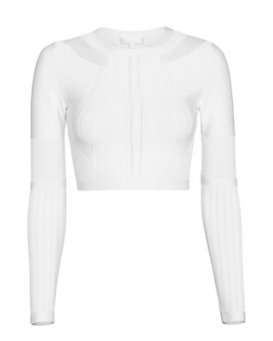 Cushnie Et Ochs Pointelle Stitch Crop Knit: White