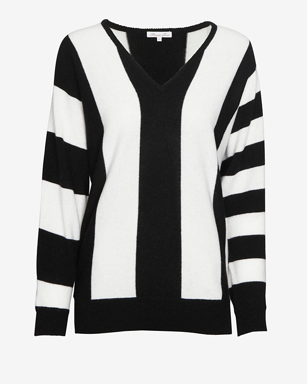 Minnie Rose EXCLUSIVE Dolman Sleeve Striped Sweater
