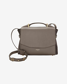 Nina Ricci Lutece Medium Flap Satchel: Grey
