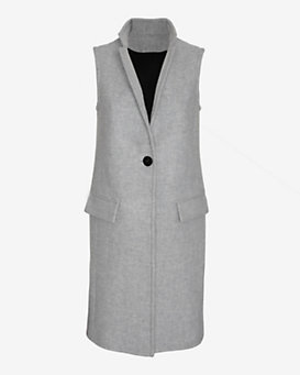 Exclusive For Intermix Tailored Long Vest: Grey