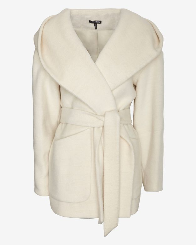 Exclusive for Intermix Cocoon Hooded Wrap Coat