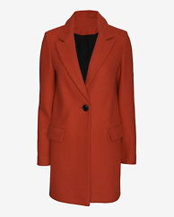 Exclusive for Intermix Tailored Coat: Red