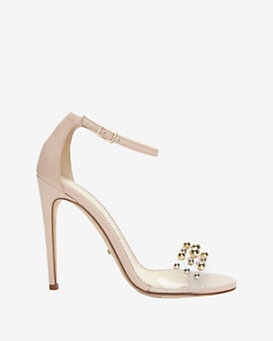 Jerome C. Rousseau Leroy Gold Metal Ball Detail Sandal