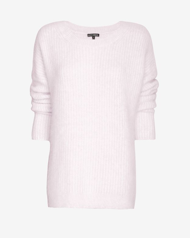 Exclusive for Intermix Oversized Boyfriend Crew Sweater: Orchid Tint